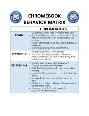 Technology Matrix Chromebooks